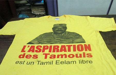 Sri Lankan police investigate 'Free Tamil Eelam' T-shirt found in