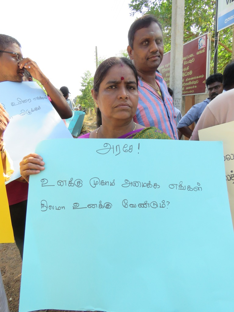 Protest in Jaffna against land survey for military camps