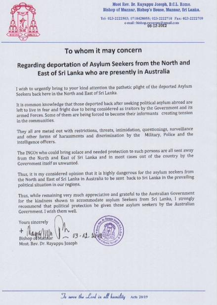 Mannar bishop calls for end to deportations back to north east mannar bishop calls for end to deportations back to north east spiritdancerdesigns Choice Image