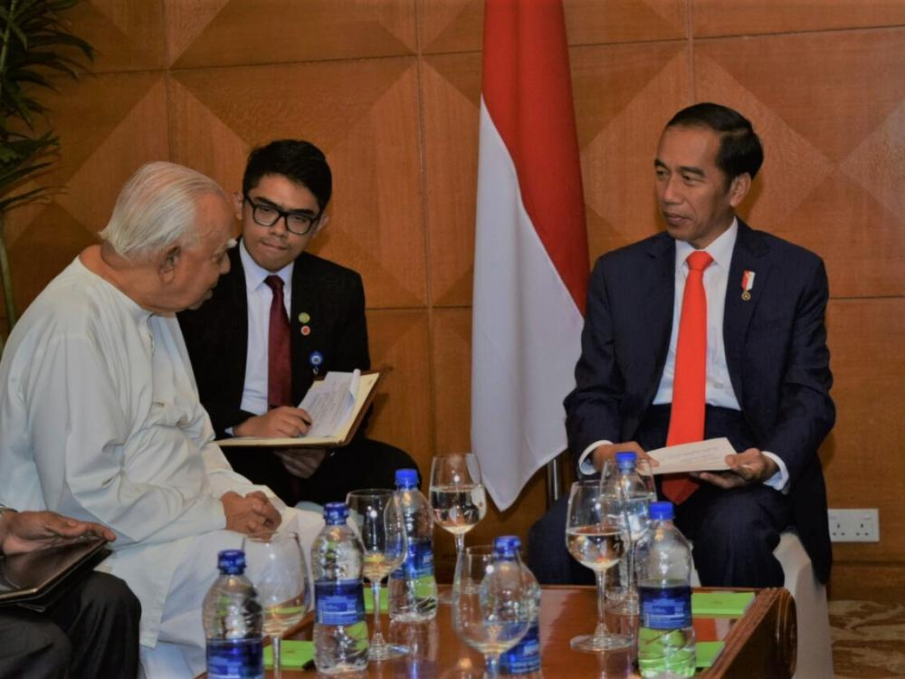 Indonesian President Widodo arrives in Dhaka