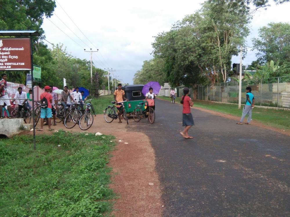 Mullaitivu residents concerned about militarisation demand removal of army camp from school roads